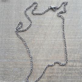 Ketting sierschakeltje rvs 50 cm  [2320]