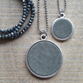 Ketting/Bedel XXL Olive Green Suede [2728]