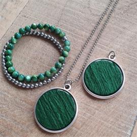 Ketting/Bedel XXL Classy Green  [2866]