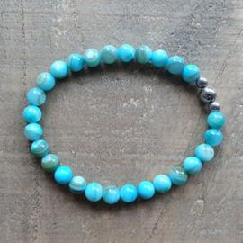 Armband Natuursteen Fris Zeeblauw  [1316]