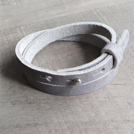 Leren Armband Grijs  [1114]