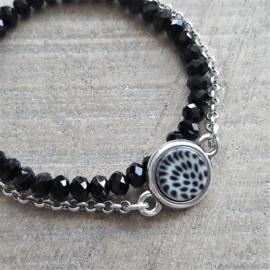 Ketting/Bedel Leopard Black/White  [2792]