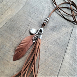 Clip On Ketting Bruin  [7052]