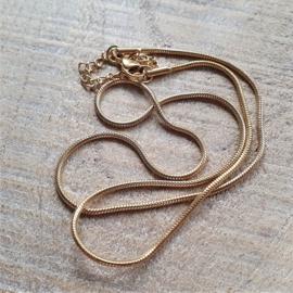 Ketting RVS Snake Goud  [2891]
