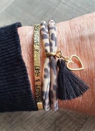 Ibiza Armband Panter Bruin  [1189]