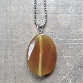 Bedel Half Edelsteen Ovaal Golden Brown  [3115]