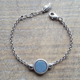 Armband Blue Grey Plat  [1871]