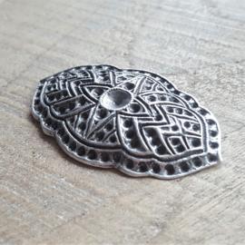 Klassieke Broche Antiek Zilver  [R229]