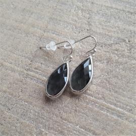 Grey Crystal Long Drops  [8356]