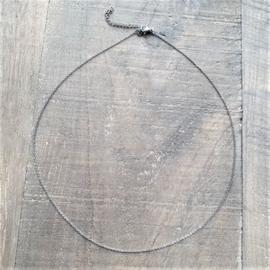 Fijn RVS Kettinkje Zilver  [2996]