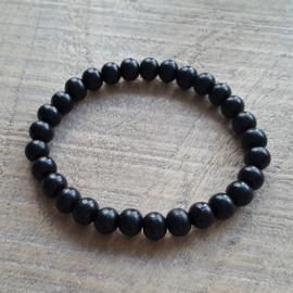 Fine Black Wooden Armband  [1065]