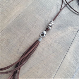 Clip On Ketting Donkerbruin  [7050]