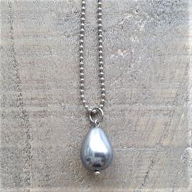Grote Parelbedel Zilvergrijs  [3104]