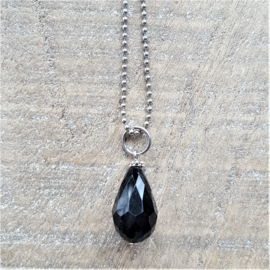Crystal Black Drops 18 mm  [8253]