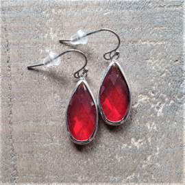 Red Crystal Long Drops  [8455]