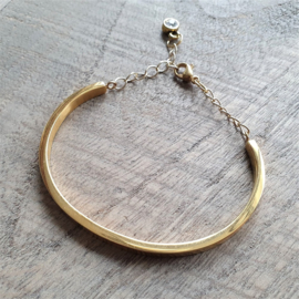 Bangle verstelbaar Goud RVS  [1184]