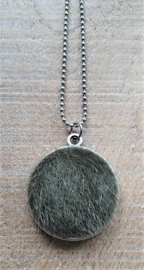 Fluffy Vacht Ketting/Bedel Army Green [2893]