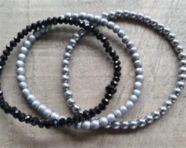 Hematite Black Silver Grey Trio  [1233]
