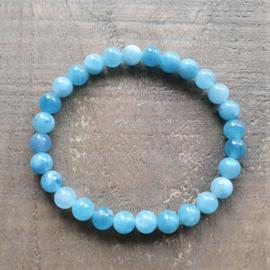 Armband Natuursteen Lichtblauw  [1317]