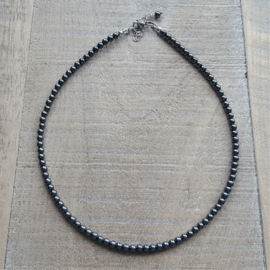 Dark Hematite 4 mm Ketting  [2805]