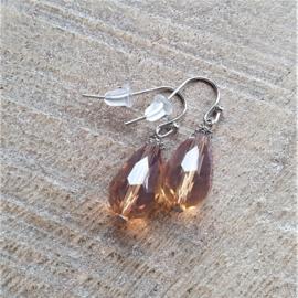 Transparant Crystal Donker Brique Druppels  [8395]