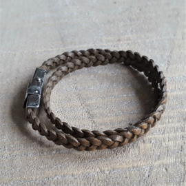 Vintage Brownie Gevlochten 5 mm  [1889]