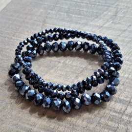 Donkerblauwe Facetjes 8 x 6 mm  [1996]