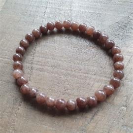Natuursteen Jade Brown 6 mm  [1086]