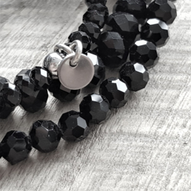 Crystal Black Drops 12 mm  [8163]