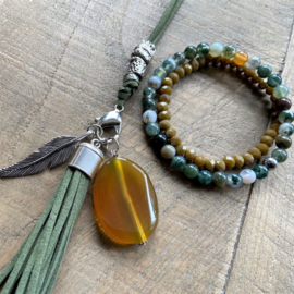Clip On Ketting Special Cactusgroen  [7068]