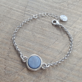 Jasseron Poederblauw Armband  [1075]