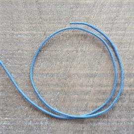 Helder Blauw Waxkoord 2 mm  [2612]