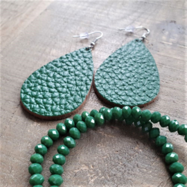 Groene Facet Armband  [1299]