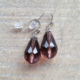 Aubergine Crystal Drops 18 mm  [8324]