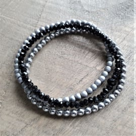 Hematite Black Silver Grey Trio  [1233]