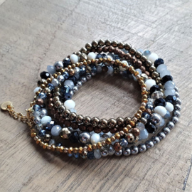 Mix met hematite en facet