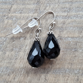Crystal Black Drops 18 mm  [8253]