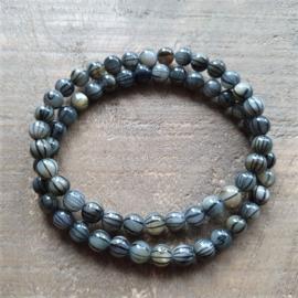 Armband Natuursteen Grijsgroen Mix  [1308]