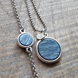 Ketting/Bedel Blue Grey  [2503]