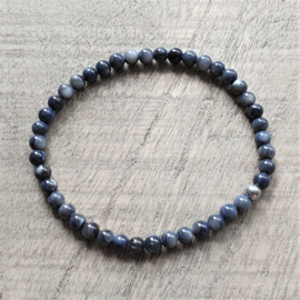 Armband Blauw Parelmoer 4 mm  [1188]