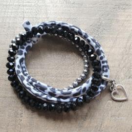 Ibiza Armband Zwart/Wit  [1200]