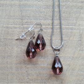 Aubergine Crystal Drops 18 mm  [8324]