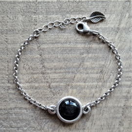 Armband Shiny Black Pearl  [1764]