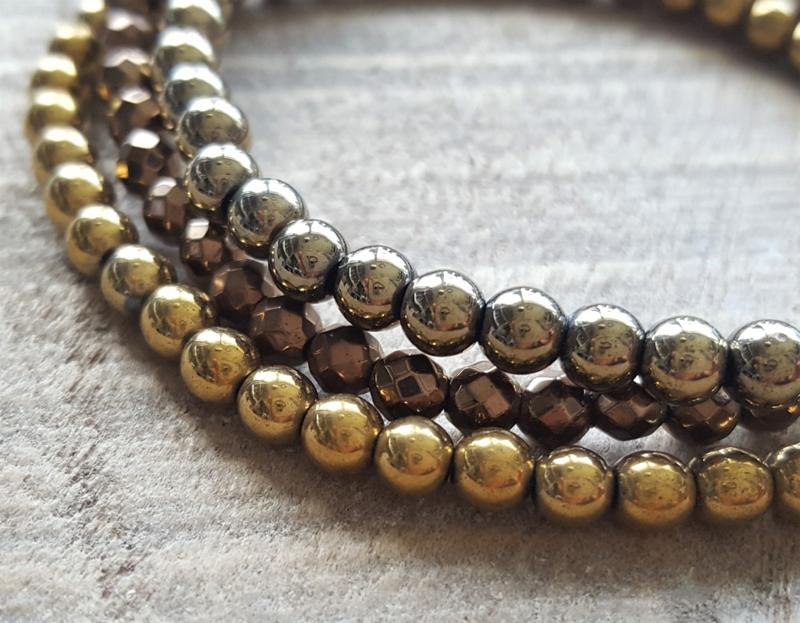Hematite Gold Set  [1043]