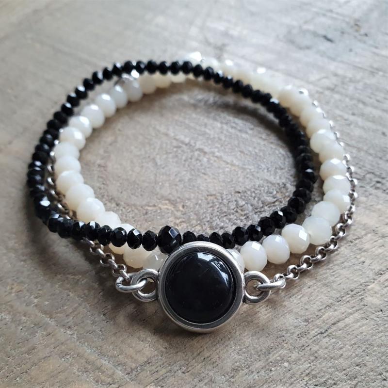 Black Off -White Combi  [1295]