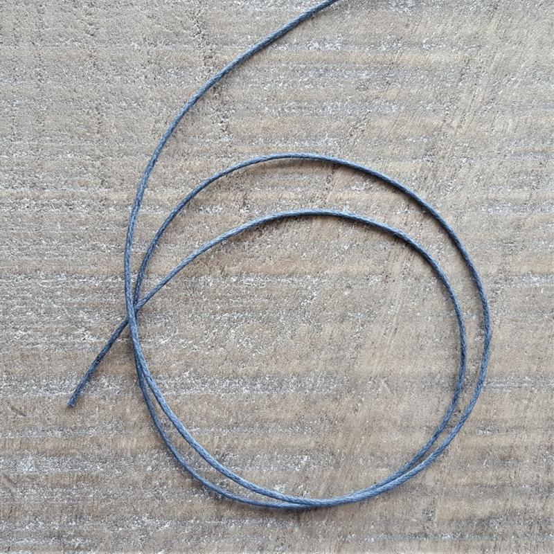 Grijsblauw Waxkoord 1 mm  [2616]