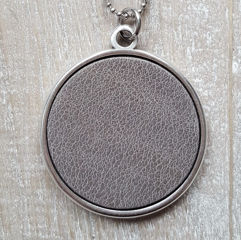 Ketting/Bedel XXL Taupe Leather  [2554]