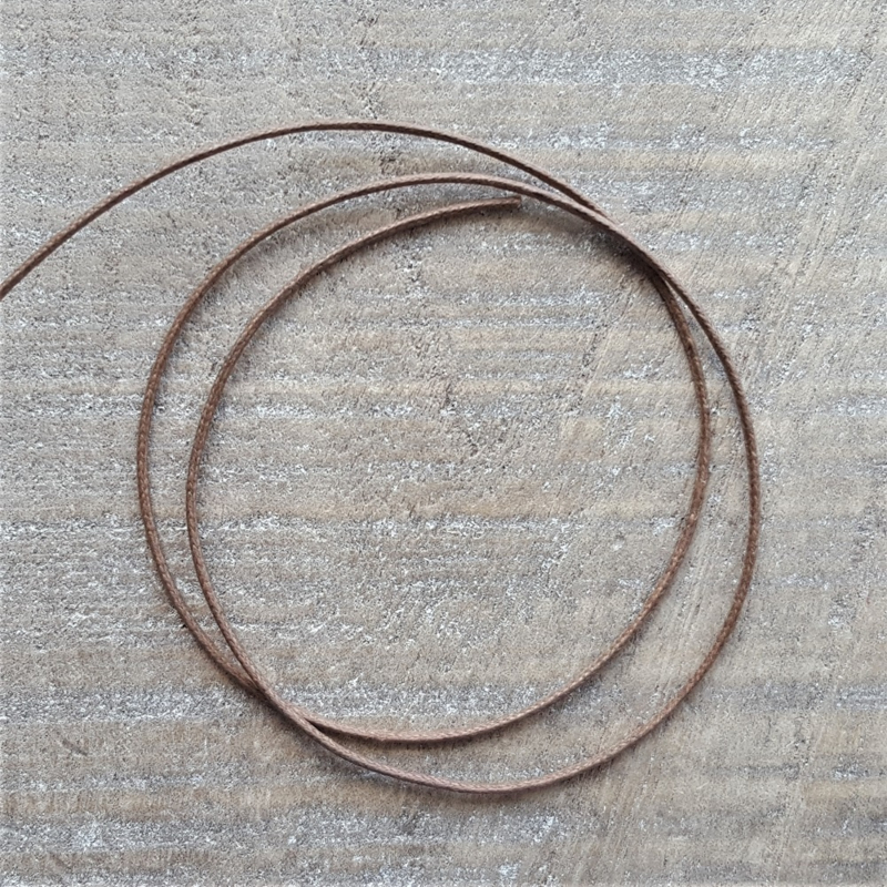 Vintage Bruin Waxkoord 1 mm  [2620]