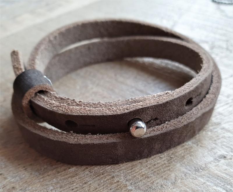 Leren Armband Vintage Bruin  [1160]