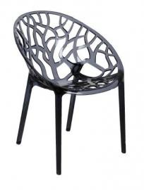 Design stoel Kristal grijstransparant